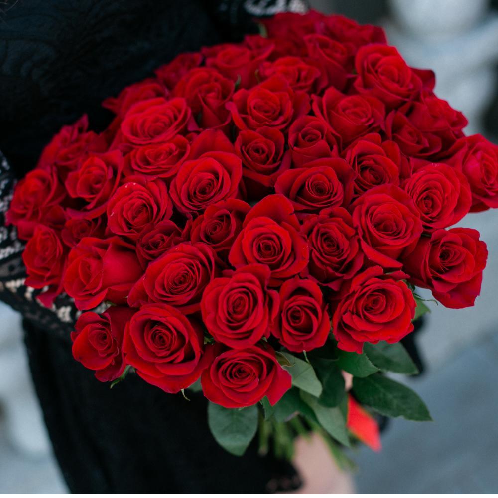 """Букет из 51 розы """"Фридом"""""""