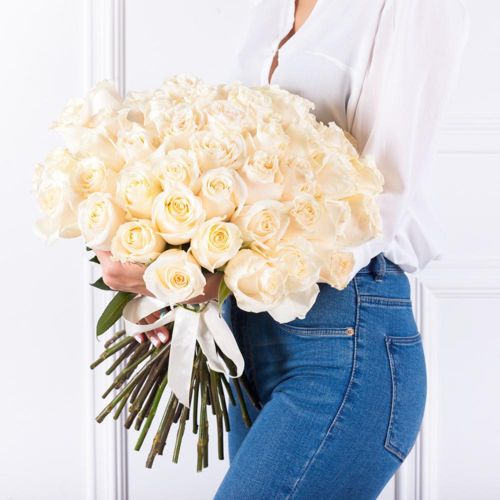 """Букет из 51 розы """"Близзард"""""""
