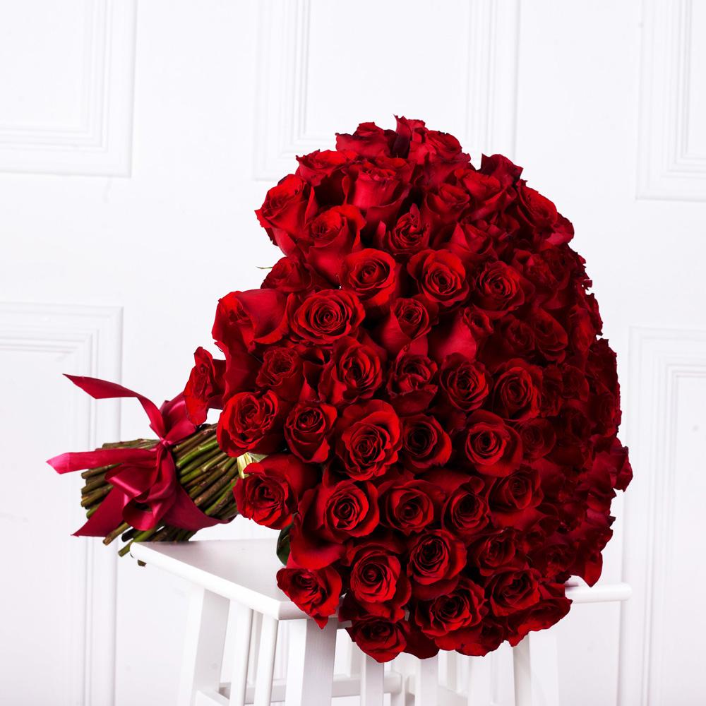 """Букет из 101 розы """"Фридом"""""""