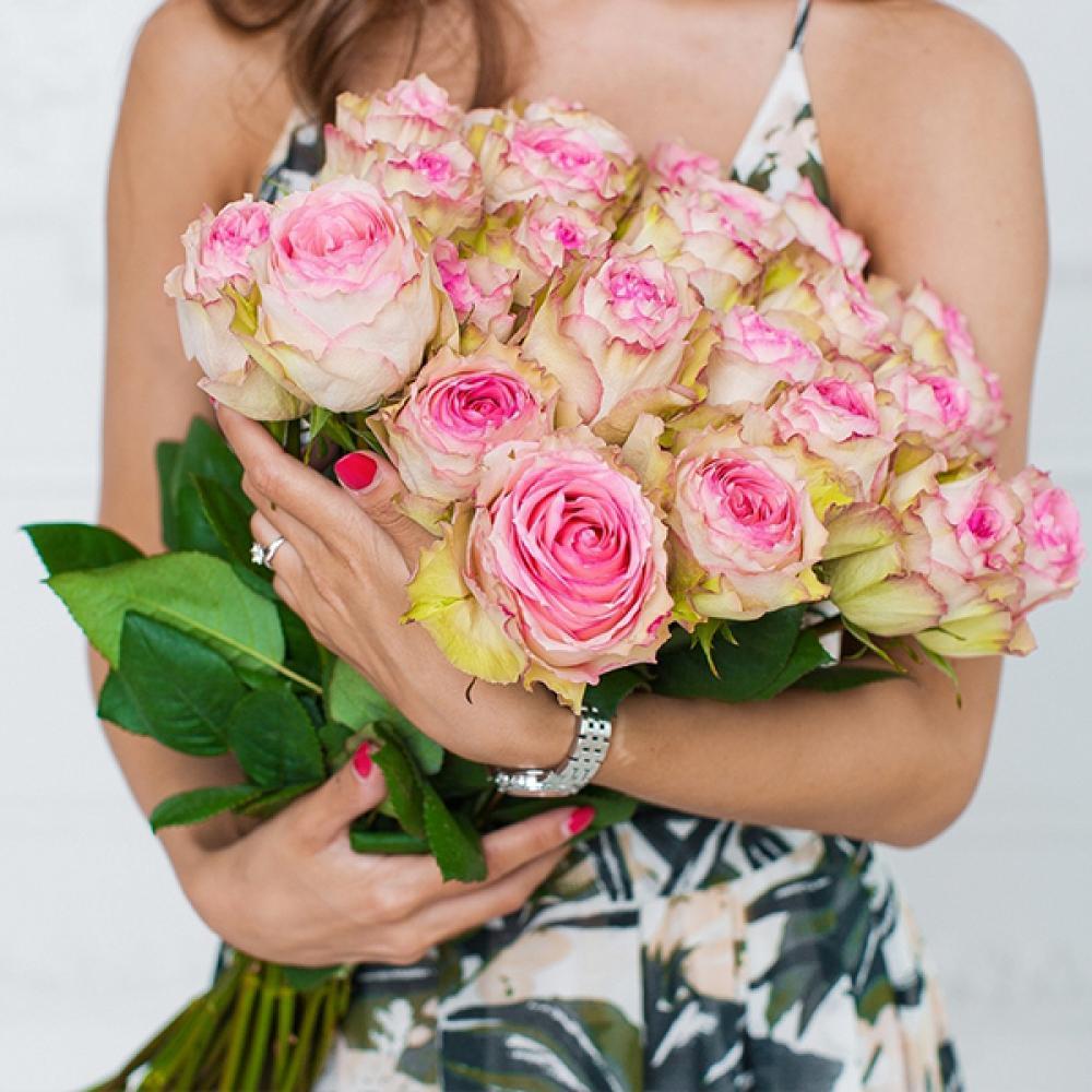 """Букет из 25 роз """"Эсперанс"""""""