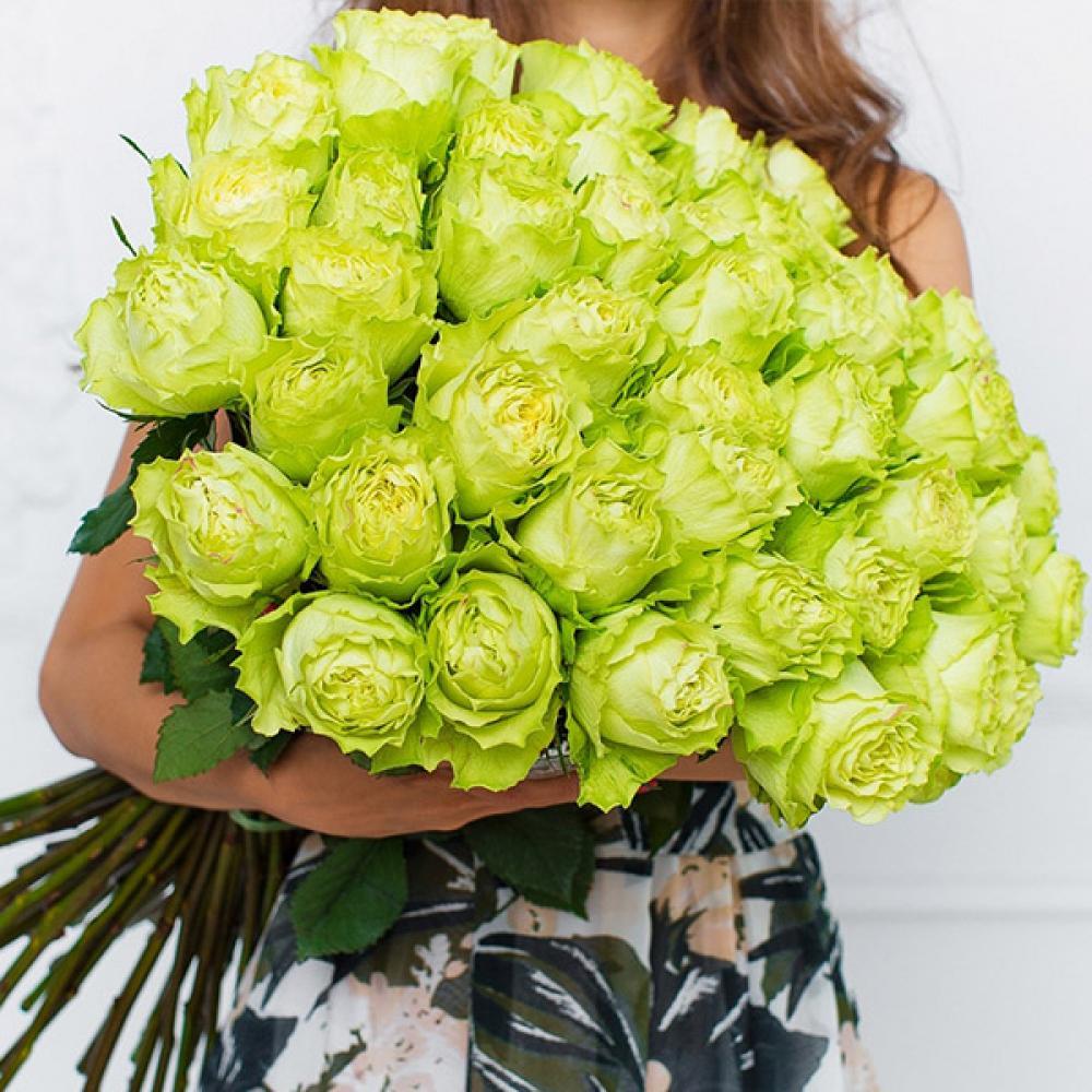 """Букет из 51 розы """"Лимонад"""""""