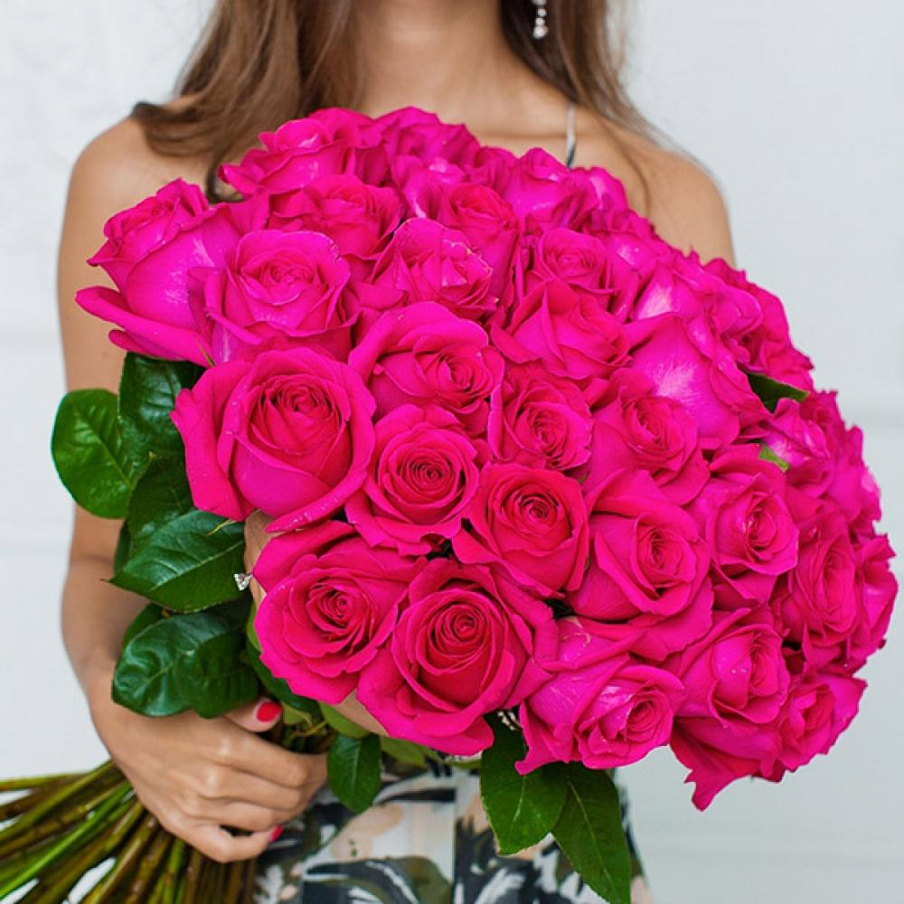 """Букет из 51 розы """"Пинк Флойд"""""""