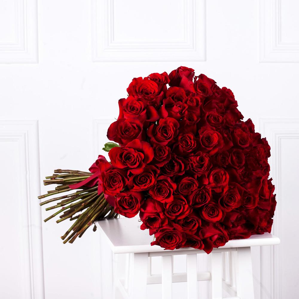 """Букет из 75 роз """"Фридом"""""""
