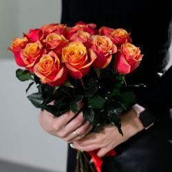 "Букет из 15 роз "" Cherry Brandy"""